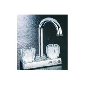 Boston Harbor PF4205A Bar Sink Faucet, 2-Faucet Handle, 2-Faucet Hole, ABS, Chrome, Deck Mounted Mounting