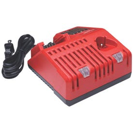 Milwaukee 48-59-1812 Multi-Voltage Charger, 120 V Output, 3 Ah, 1 hr Charge, 1 -Battery, Battery Included: No