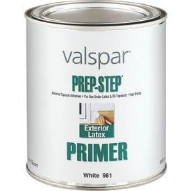 Valspar Prep-Step 981-1QT Exterior Primer, White, 1 qt, Pail