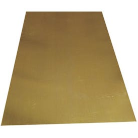 K & S 252 Metal Sheet, 26 Thick Material, 4 in W, 10 in L, Brass, Brass
