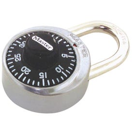 Master Lock 1500D Combination Dial Padlock, 9/32 in Dia Shackle, 3/4 in H Shackle, Steel Shackle, 1-7/8 in W Body