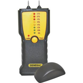 GENERAL MM1E Moisture Meter, 7 to 15% WME Low, 16 to 35% WME High, 0.1 % Accuracy, LED Display
