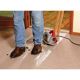 SURFACE SHIELDS CS24100 Carpet Shield, 100 ft L, 24 in W, 2.5 mil Thick, Polyethylene, Clear
