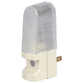 Eaton Wiring Devices BP851W Nightlight, 15 A, 125 V, 4 W, Incandescent Lamp, White Light, Plastic Fixture