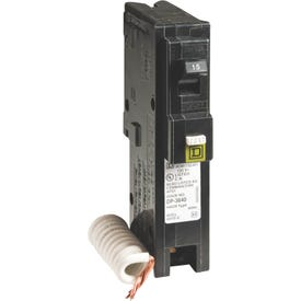 Square D HOM115CAFIC Circuit Breaker, Arc-Fault, Combination, 15 A, 1-Pole, 120 V, Fixed Trip, Plug-In Mounting