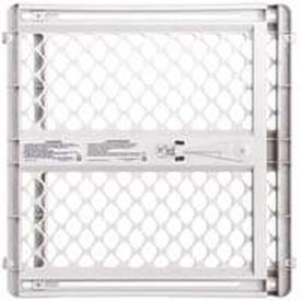 North States Supergate Classic 8615 Safety Gate, Plastic, Light Gray, 26 in H Dimensions