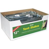 COGHLAN'S 9813 Tent Stake, 12 in L, 1/4 in W, Steel
