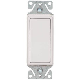 Eaton Wiring Devices 7500 Series 7503W-BOX Rocker Switch, 120/277 V, Strap Mounting, Thermoplastic, White