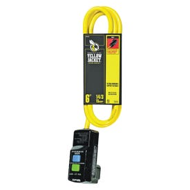 CCI 2879 Extension Cord, 6 ft L Cable, 15 A, 125 V, Yellow Jacket
