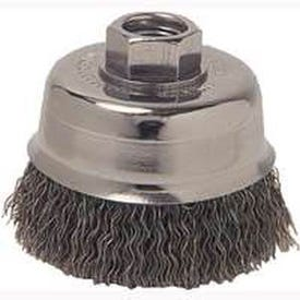 Weiler 36031 Wire Cup Brush, 3 in Dia, 5/8-11 Arbor/Shank