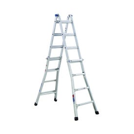 WERNER MT-17 Telescoping Multi-Ladder, 18 ft 1 in Max Reach H, 16-Step, 300 lb, Type IA Duty Rating, Aluminum
