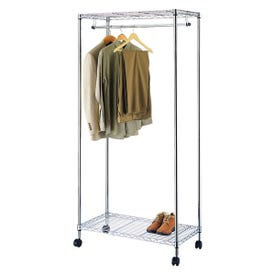 Simple Spaces SS-8058-90TCH-3L Garment Rack with Wheel, 30 to 50 Garments Capacity, 35-3/4 in W, 75 in H, Steel