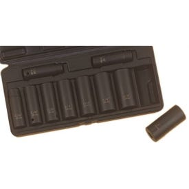 Vulcan MTI10-S Socket Set, Chrome Molybdenum Steel, Tempered Phosphate, Specifications: 1/2 in Drive Size