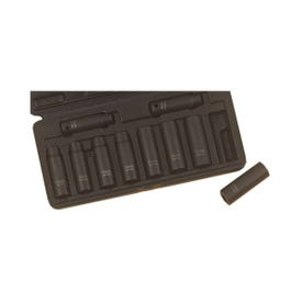Vulcan MTI10-M Socket Set, Chrome Molybdenum Steel, Tempered Phosphate, Specifications: 1/2 in Drive Size