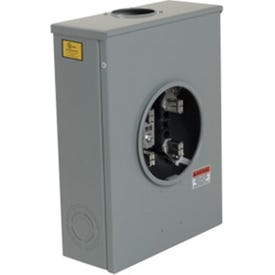 Square D URTRS213B Meter Socket, 1-Phase, 200 A, 600 V, 4-Jaw, Overhead/Underground Feed Cable Entry