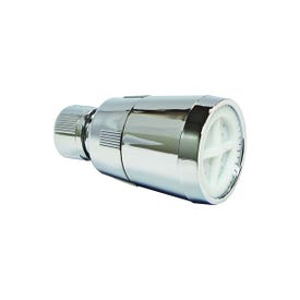 Plumb Pak Economy PP825-3 Shower Head, 2.5 gpm, 1/2 in Connection, Plastic, Chrome