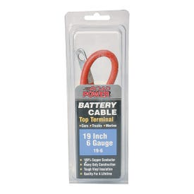 CCI Maximum Energy 19-6 Battery Cable, 6 AWG Wire, Black Sheath