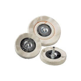 Dico 527-41-4M Buffing Wheel, 4 in Dia, 1/2 in Thick, Cotton