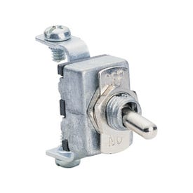 CALTERM 41700 Toggle Switch, 15 A, 12 VDC, Screw Terminal, Chrome Housing Material