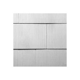 GAF WeatherSide 2213000WG Shingle Siding, 12 in L Nominal, 24 in W Nominal, 11/64 in Thick Nominal, White