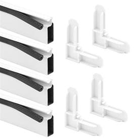 Make-2-Fit PL 7813 Screen Frame Kit, 4 ft L x 3/4 in W Dimensions, Aluminum, White, Painted, 10-Piece
