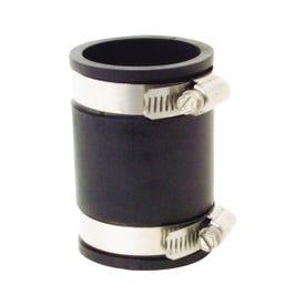 Fernco P1056-150 Pipe Coupling, 1-1/2 in, 3.43 in L, Black