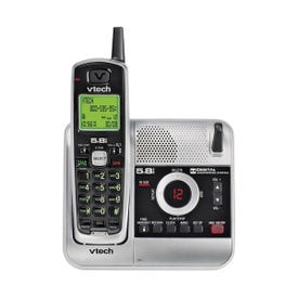 Vtech CS6124 Cordless Telephone with Caller ID, 45 Calls Caller ID History, LCD Display, Nickel-Metal Hydride Battery