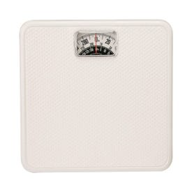 Taylor 20005014T Bathroom Scale, 300 lb Capacity, Analog Display, White, 10-3/4 in OAW, 10.3 in OAD, 1.8 in OAH