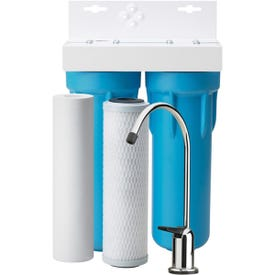 Pentair OMNIFilter OT32-S-S06 Filtration System, 400 gal Capacity, 0.5 gpm, 2 -Stage, Blue/White