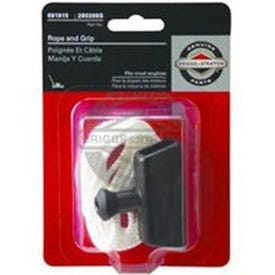 BRIGGS & STRATTON 5042K Pull Rope and Handle Grip, Nylon/Rubber, For: 2 to 4 hp Briggs & Stratton Engines