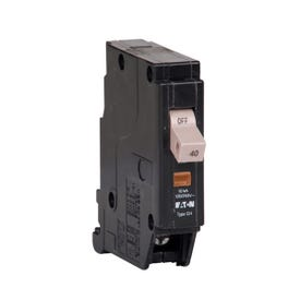 Cutler-Hammer CHF140 Circuit Breaker with Flag, Type CHF, 40 A, 1-Pole, 120/240 V, Mechanical Trip