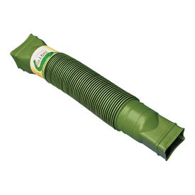 Amerimax Flex-A-Spout 85511 Downspout Extension, 22 to 55 in L Extended, Vinyl, Green