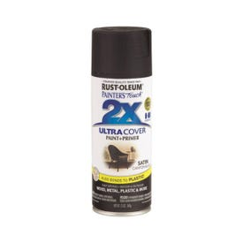 RUST-OLEUM PAINTER'S Touch 249844 General-Purpose Satin Spray Paint, Satin, Canyon Black, 12 oz Aerosol Can