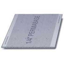 PermaBase CB23140500 Cement Underlayment, 5 ft L, 3 ft W, 1/4 in Thick, Plastic, Gray