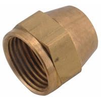 Anderson Metals 754014-06 Short Nut, 3/8 in, Flare, Brass