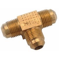 Anderson Metals 754044-06 Tube Union Tee, 3/8 in, Flare, Brass