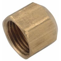 Anderson Metals 754040-06 Tube Cap, 3/8 in, Flare, Brass