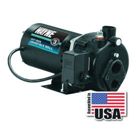 WAYNE CWS50 Jet Well Pump, 120/240 V, 1-1/4 in Suction, 3/4 in Discharge NPT