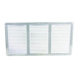 Master Flow EAC16X8 Undereave Vent, 8 in L, 16 in W, 65 sq-ft Net Free Ventilating Area, Aluminum, Mill