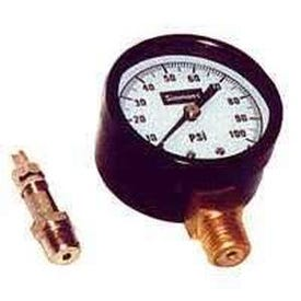 Simmons 1305 Pressure Gauge, 1/4 in Connection, MPT, 2 in Dial, Steel Gauge Case, 0 to 100 lb, Lower Connection