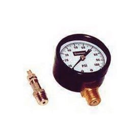 Simmons 1306 Pressure Gauge, 1/4 in Connection, MPT, 2 in Dial, Steel Gauge Case, 0 to 200 lb, Lower Connection