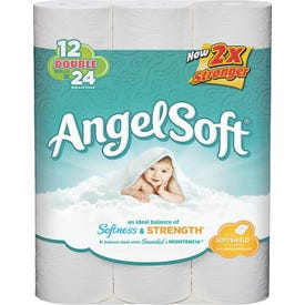 Angel Soft 77377 Bathroom Tissue, 4 ft x 4.27 in Sheet, 2-Ply, Paper