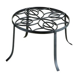 Landscapers Select W52873-3L Planter Stand, 12 in OAW, 8-1/2 in OAH, Iron, Black, Powder-Coated