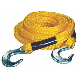 KEEPER 02855 Tow Rope, 5/8 in Dia, 13 ft L, Hook End, 6800 Working Load, Polypropylene