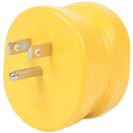 CAMCO 55223 Power Grip Adapter, 30 A Female, 15 A Male, 125 V, Male, Female