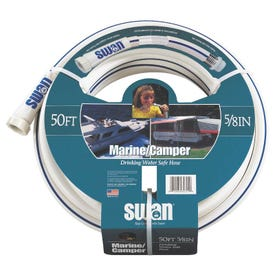 SWAN MRV12025 Water Hose, 1/2 in ID, 25 ft L, White