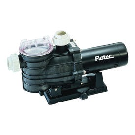 Flotec AT251501 Pool Pump with Integral Trap, 1-Phase, 13.4 A, 115/230 V, 1.5 hp, 2 in Outlet, 112 gpm