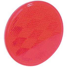 US Hardware RV-659C Safety Reflector, Red Reflector, Plastic Reflector, Adhesive Mounting