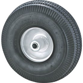 ProSource CW/GS-3339 Hand Truck Wheel, Tube, 10 x 3-1/2 in Tire, 1-1/2 in Dia Hub, Rubber