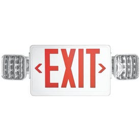 HOWARD LIGHTING HL03143RW Exit Light, 10 in OAW, 24 in OAH, 120/277 VAC, Thermoplastic Fixture, White